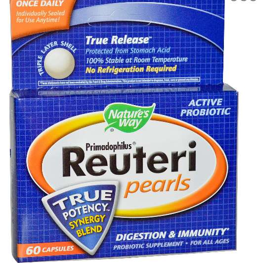 Primadophilus Reuteri Pearls (60 Capsules) - Nature's Way