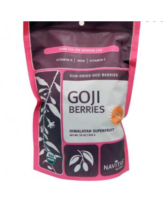 Goji Bessen, Zongedroogd (454 gram) - Navitas Naturals
