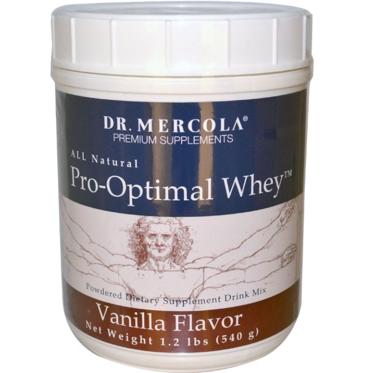 Pro-optimal whey, vanille smaak (540 g) - Dr Mercola
