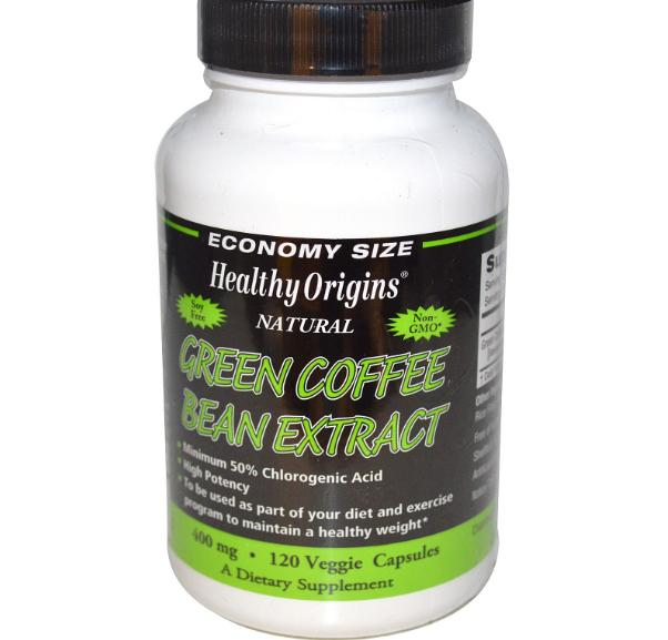 Green Coffee Bean Extract 400 mg (120 Veg Capsules) - Healthy Origins