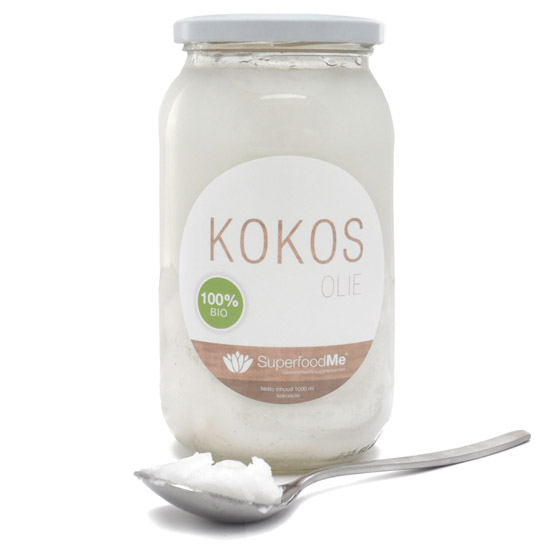 Image of Biologische Kokosolie (1 liter) - Superfoodme