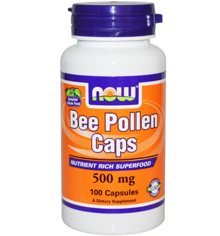 Bee Pollen Caps 500 mg (250 Capsules) - Now Foods