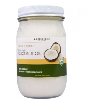 Dr. Mercola, Organic, Fresh Shores, Extra Virgin Coconut Oil, 16 fl oz (475 ml)