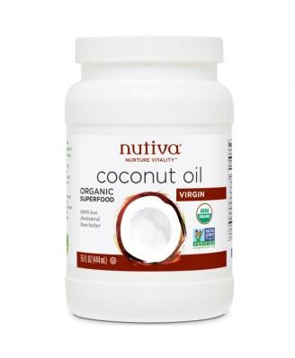 Nutiva, Organic Extra Virgin Coconut Oil, 15 fl oz (444 ml)