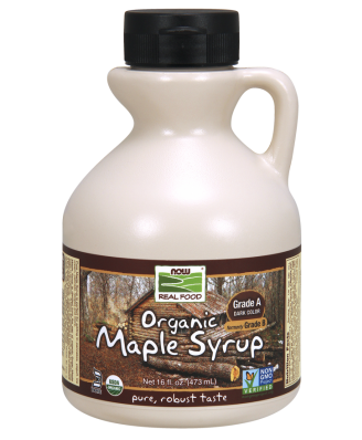 Now Foods, Organic Maple Syrup, Grade A, Deep Rich Flavor, 16 fl oz (473 ml)
