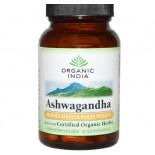 Biologische Ashwagandha, 400 mg (90 Veggie Caps) - Organic India