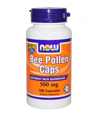 Now Foods, Bee Pollen Caps, 500 mg, 100 Capsules