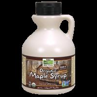 Biologische ahorn siroop, klasse A, Dark, diepe rijke smaak (473 ml) - Now Foods