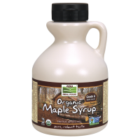 Organic Maple Syrup - Grade A Dark Color (473 ml) - Now Foods